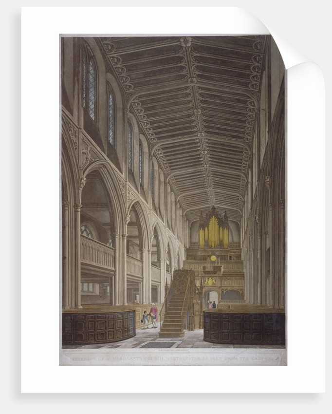 Interior of St Margaret's Church, Westminster, London by George Hawkins