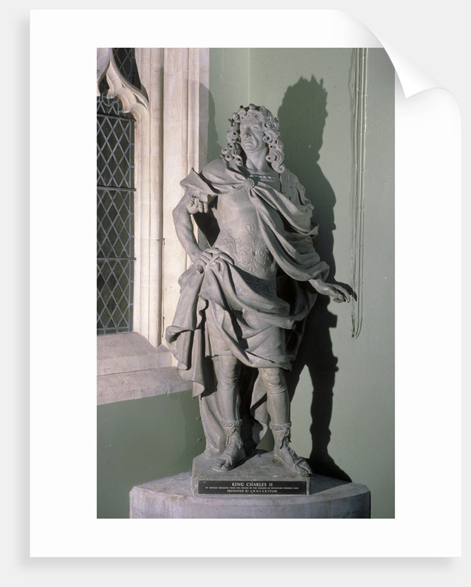 Statue of King Charles II, 17th century by Artus Quellinus I