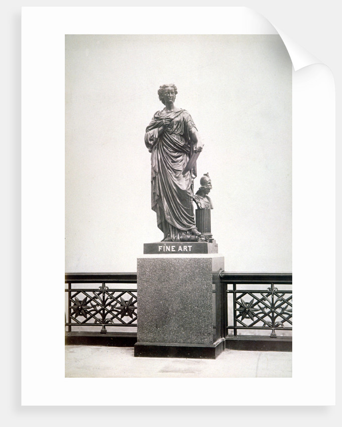 Bronze statue of Fine Art, located on the north parapet of Holborn Viaduct, London by Henry Dixon