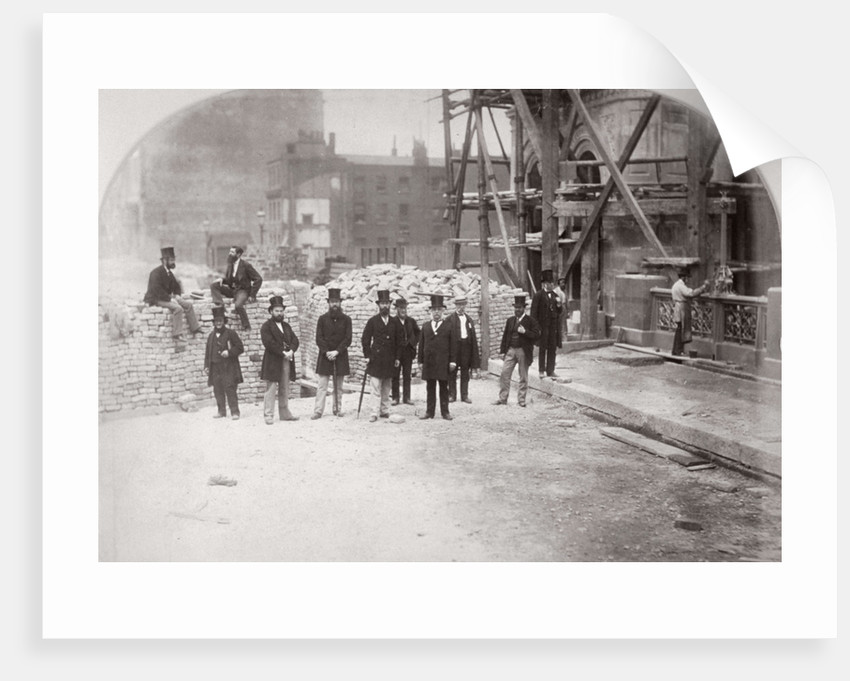 Group portrait of the Holborn Valley Improvements Committee on Holborn Viaduct' London by