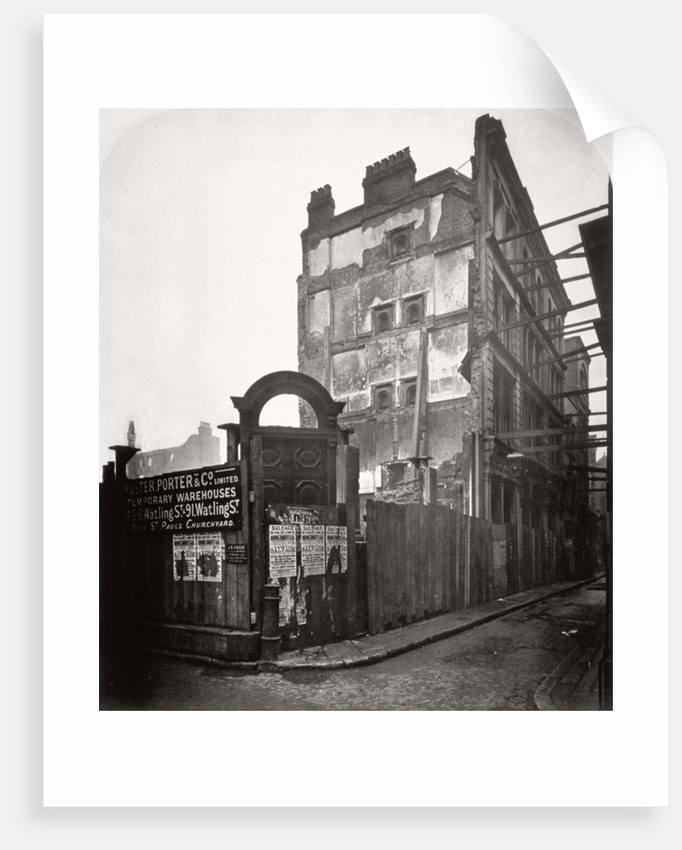 View of premises in Addle Street, destroyed by fire, City of London by Henry Dixon