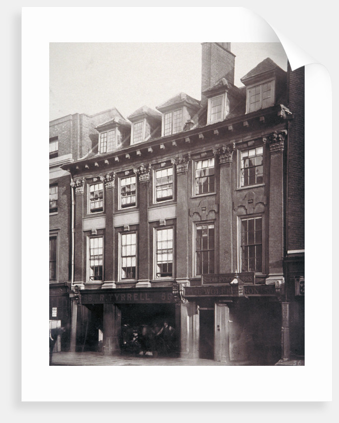 View of houses in Great Queen Street, Holborn, Camden, London by Henry Dixon