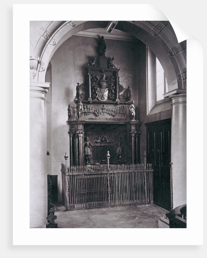 View of the tomb of Thomas Sutton, Charterhouse, Finsbury, London by Henry Dixon