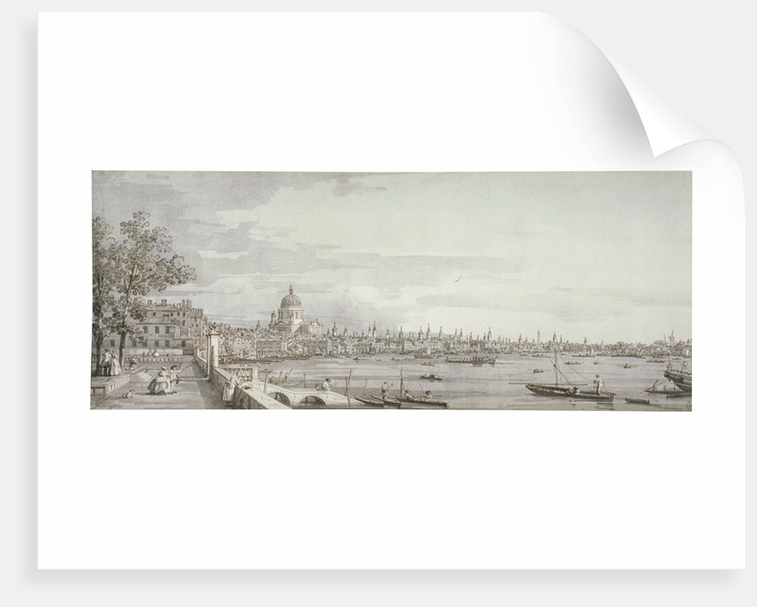 View of the River Thames, London by Giovanni Antonio Canaletto