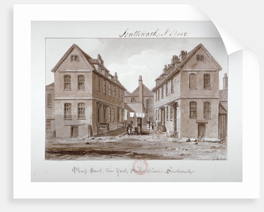 Pump Court, Vine Yard, Saint Olave's, Southwark, London by John Chessell Buckler
