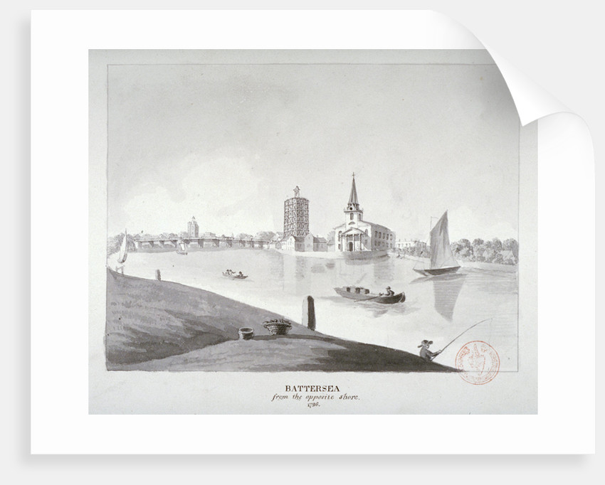 View of Battersea from across the River Thames, London by Anonymous
