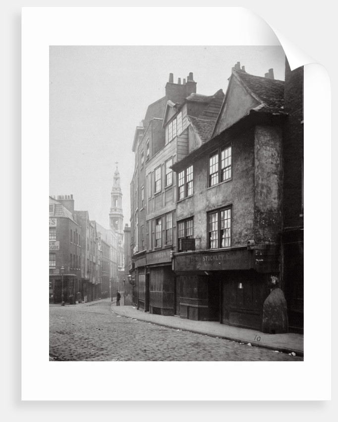 View of houses in Drury Lane, Westminster, London by