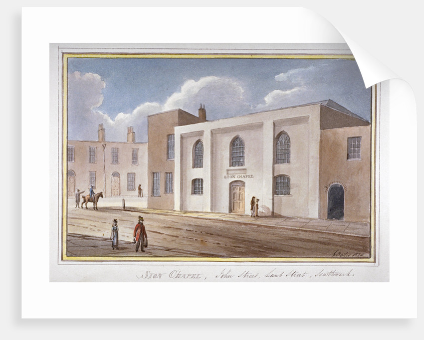 View of the Sion Chapel on John Street, Southwark, London by G Yates