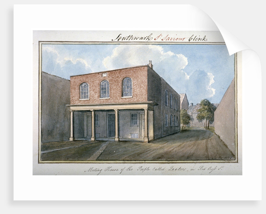 View of the Quaker's Meeting House on Redcross Street, Southwark, London by G Yates