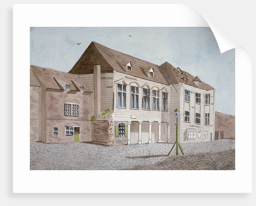 View of Marshalsea Prison on Borough High Street, Southwark, London by Anonymous