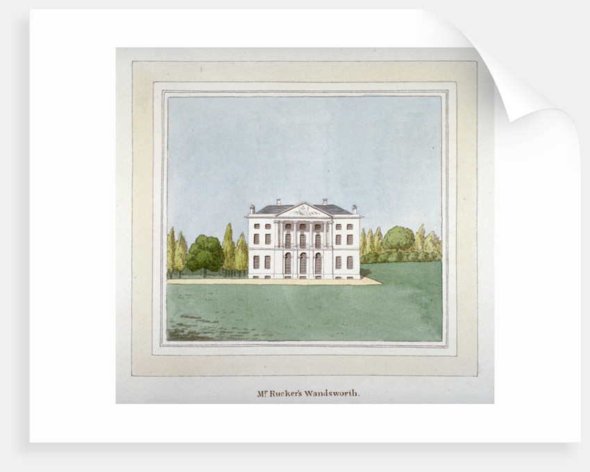 View of DH Rucker's residence at West Hill in Wandsworth, London by Anonymous