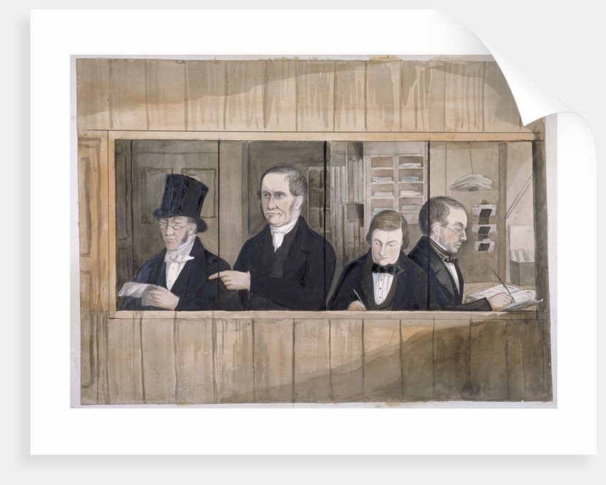 The office of Messre Charles Greenwood and Co, London by Anonymous