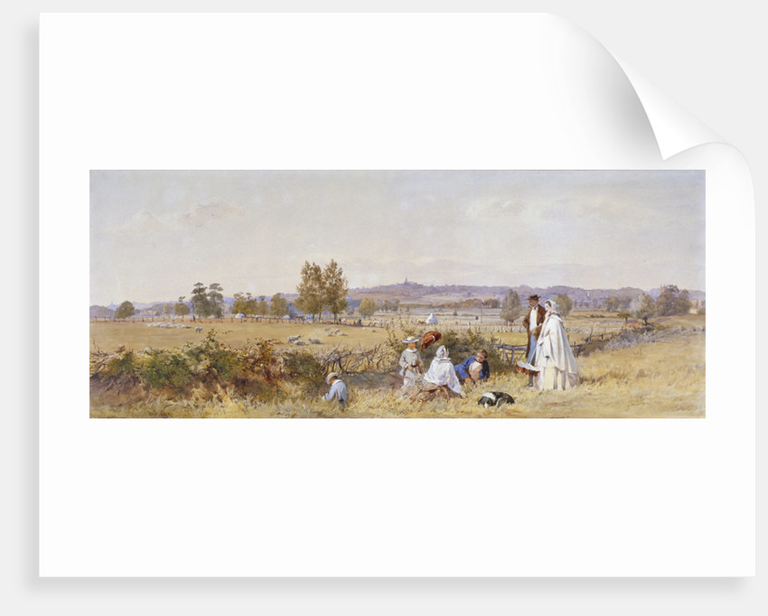 Fields at the back of Holloway Prison, Islington, London by John Absolon