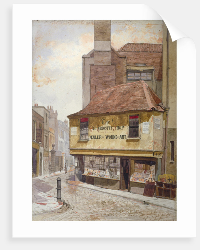 View of the Old Curiosity Shop, Portsmouth Street, Westminster, London by John Crowther