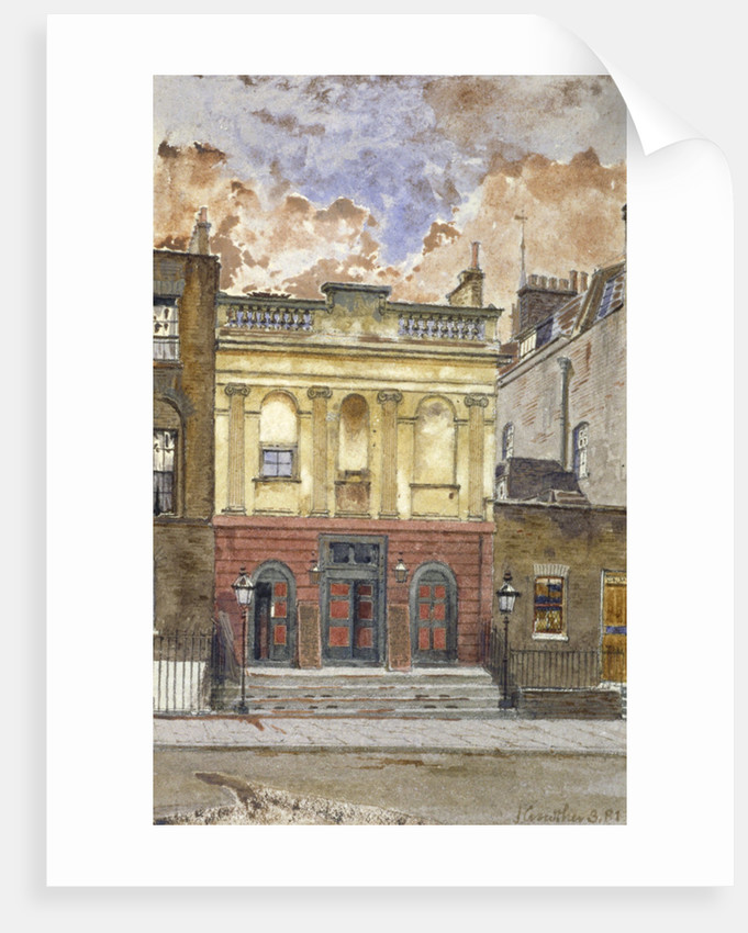 View of the King's Cross Theatre, Liverpool Street, St Pancras, London by John Crowther