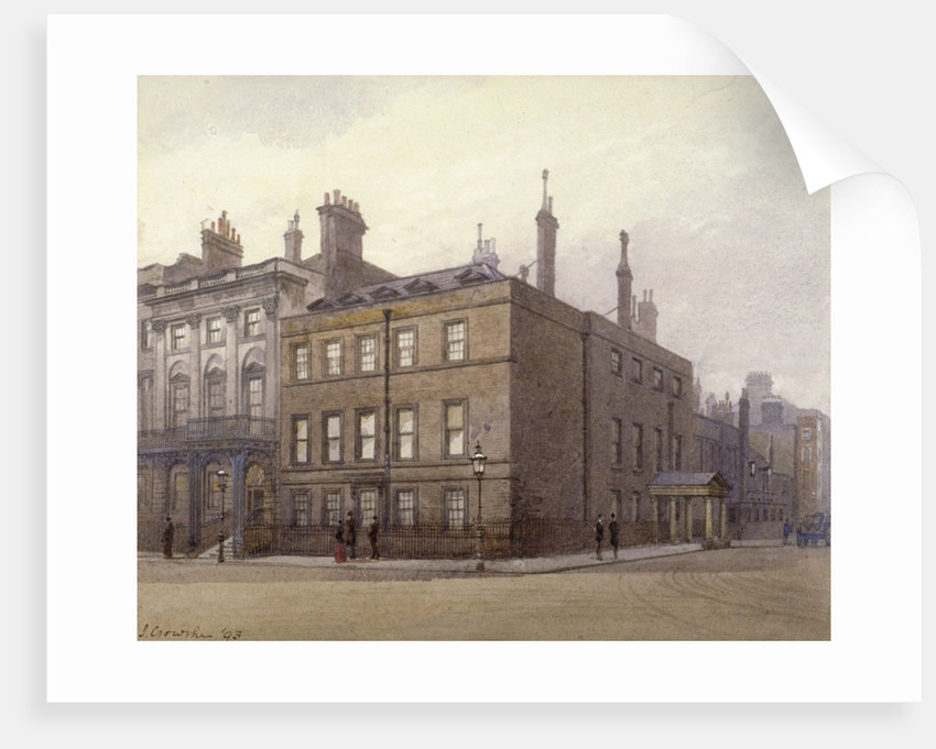 Cleveland House, at the corner of St James's Square and King Street, Westminster, London by John Crowther