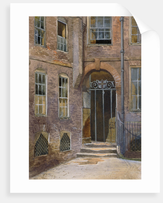 View of a gate in Elm Court, Inner Temple, London by
