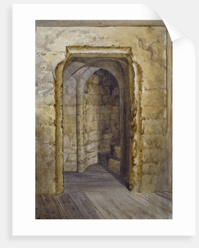 Interior of the Bloody Tower in the Tower of London by John Crowther