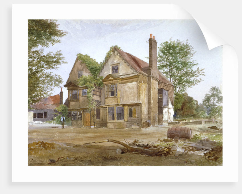 Front view of Basing Manor House, Peckham High Street, Camberwell, London by John Crowther