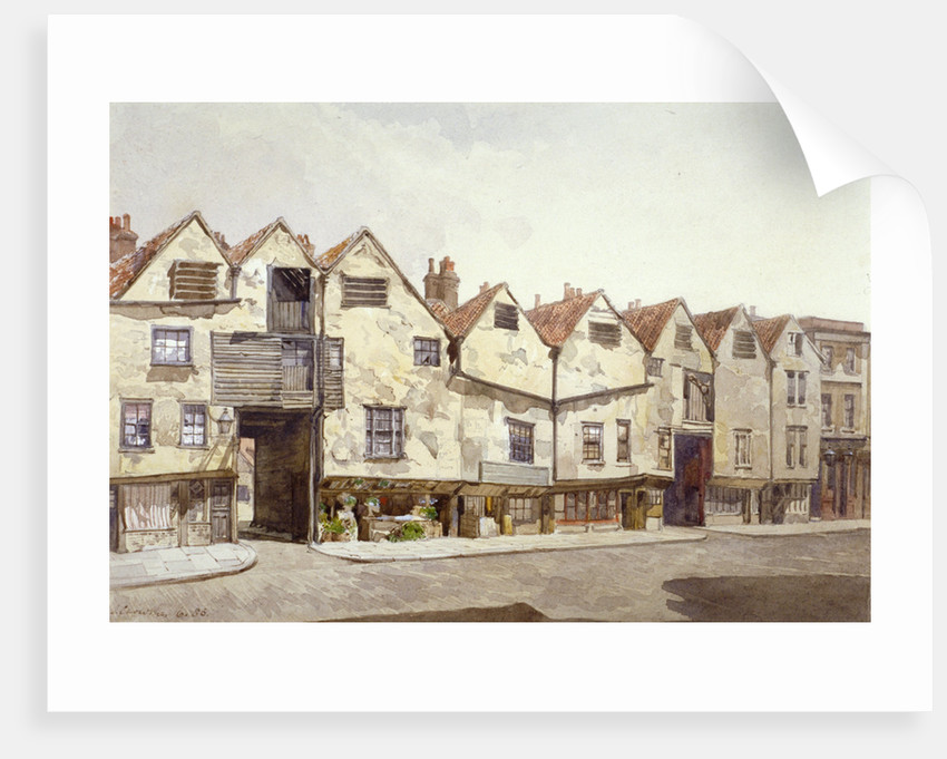 View of shops and houses, Bermondsey Street, Bermondsey, London by John Crowther