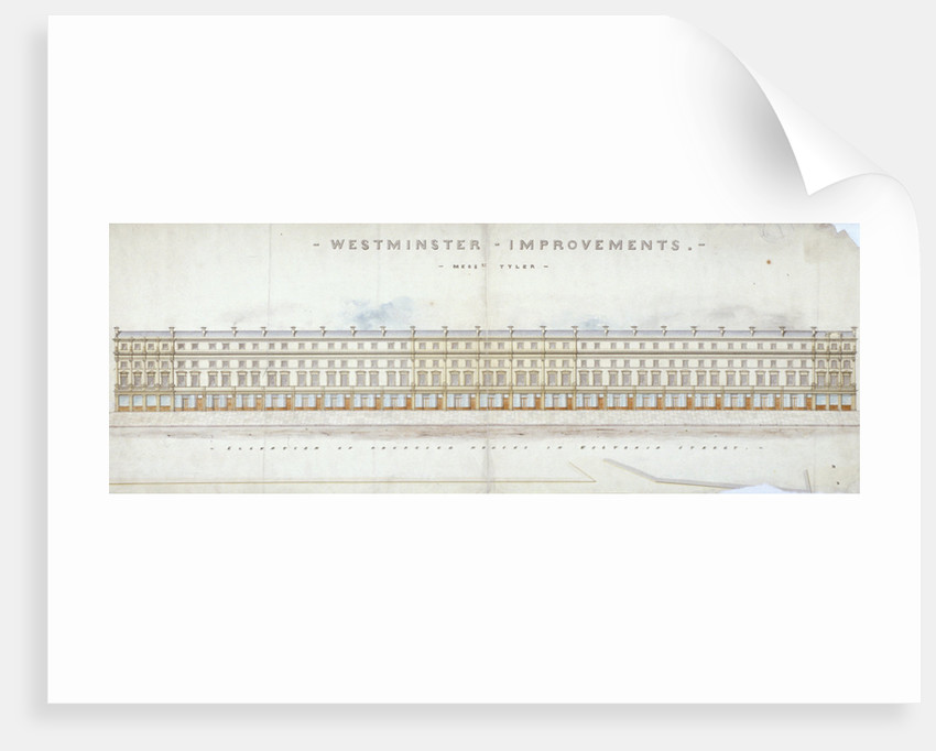 Elevation of proposed houses in Victoria Street, Westminster, London by Tyler