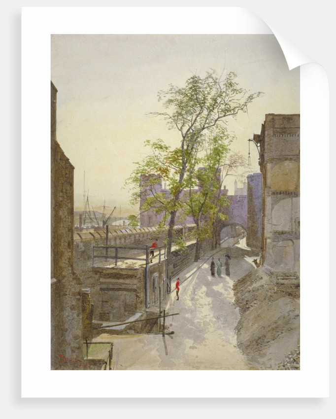 View of store rooms looking west from Cradle Tower, Tower of London, Stepney, London by John Crowther