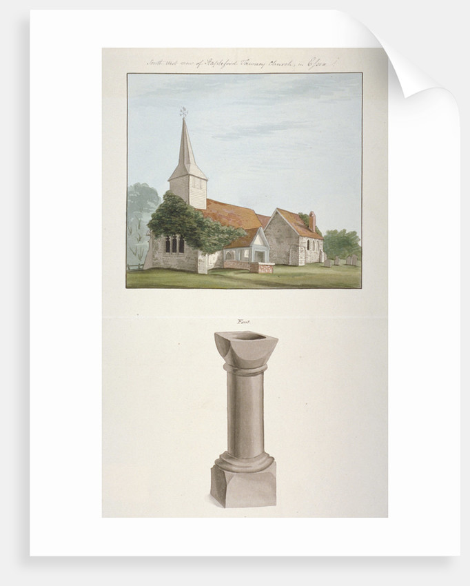 South-west view of St Mary's Church, Stapleford Tawney, Essex by Anonymous