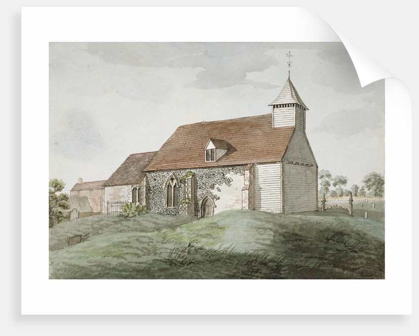 North-west view of Holy Cross church, Greenford, Middlesex by Anonymous