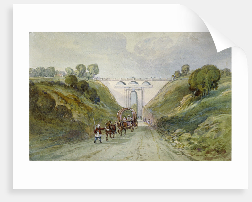 Highgate Archway viaduct, London by Anonymous
