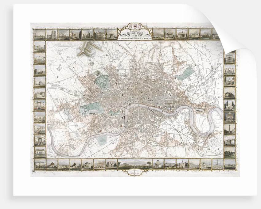 Map of London by H Lacey