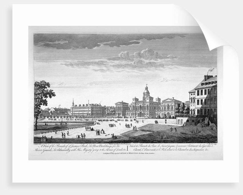 Horse Guards Parade from the south-west, Westminster, London by Thomas Bowles