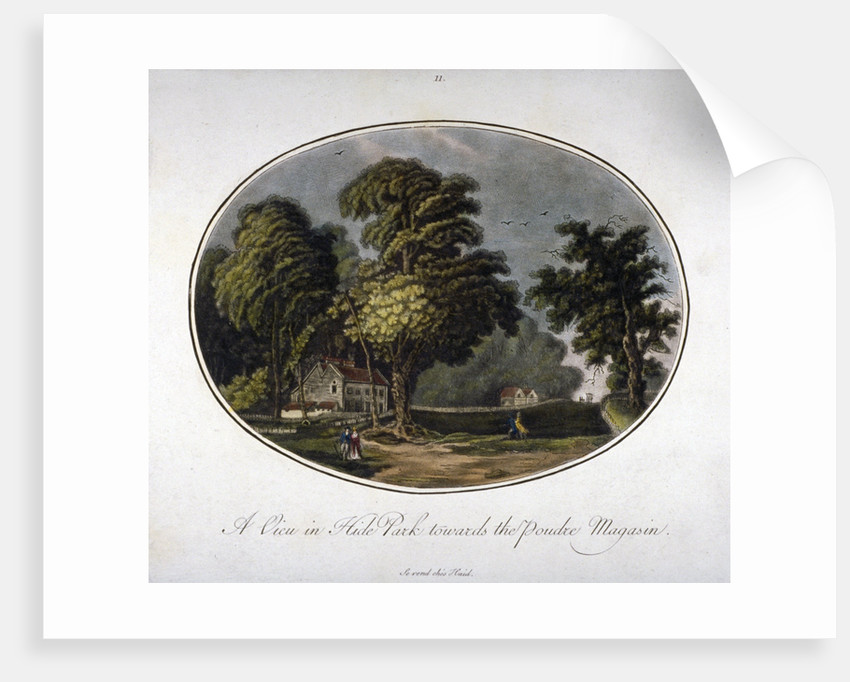 View of the powder magazine in Hyde Park, Westminster, London, 1791(?) by Anonymous