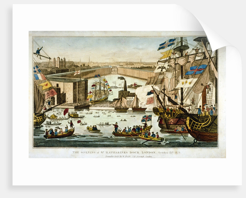 Opening of St Katharine's Dock, London, October 25 1828 by