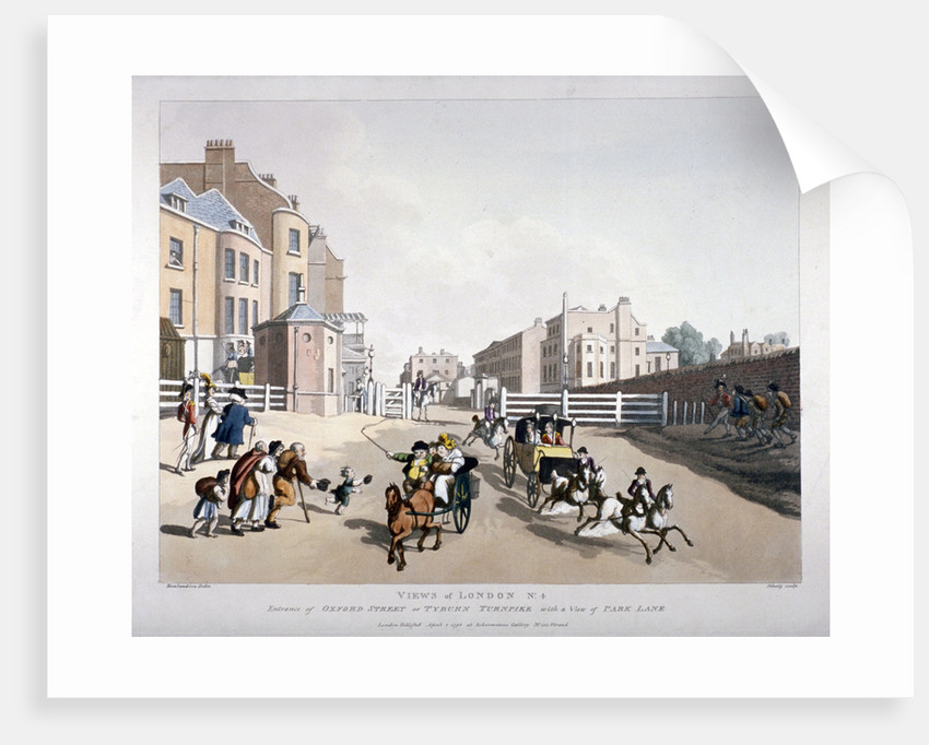 Entrance to Oxford Street at the Tyburn Turnpike, London by