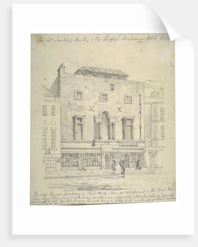 The Royal Academy of Arts, Pall Mall, Westminster, London by Anonymous