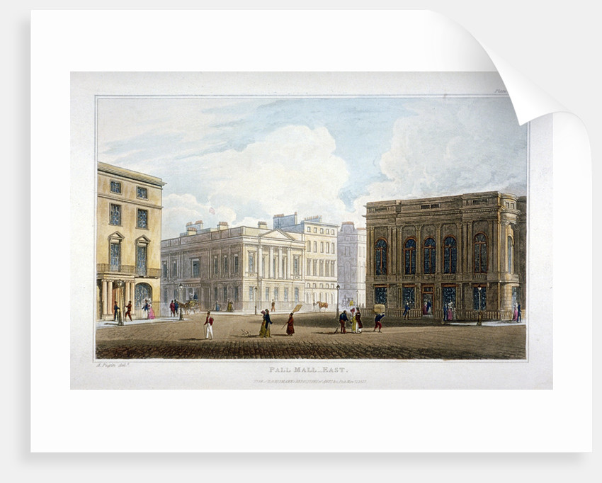 View of Pall Mall East, Westminster, London by Anonymous