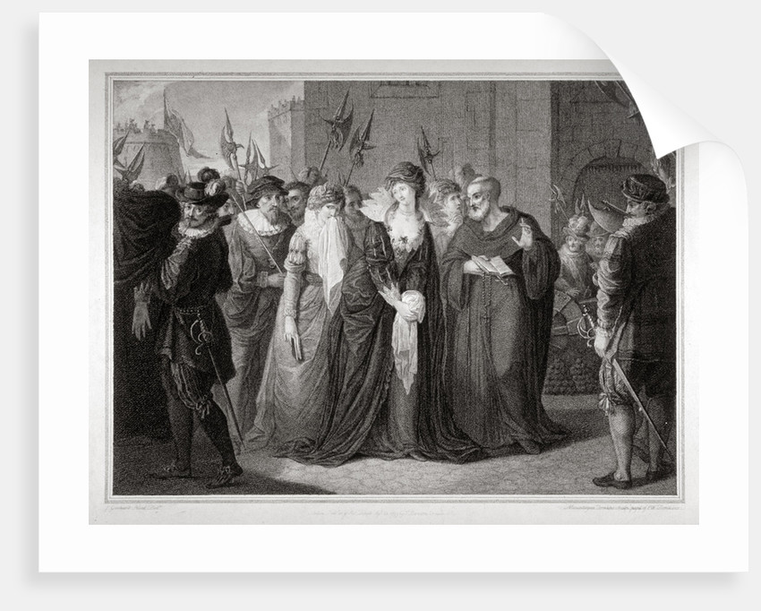 Lady Jane Grey being led to her execution at the Tower of London, 1554 (1797) by