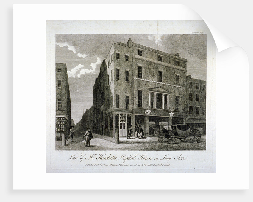 John Hatchett's house, Long Acre, Westminster, London by John Walker