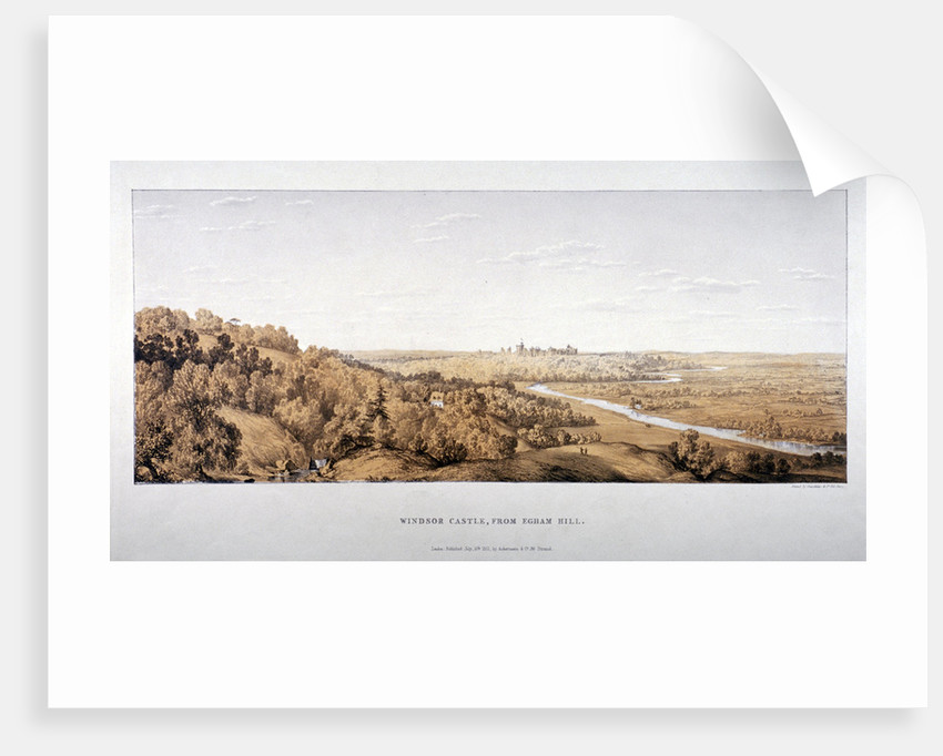 View of Windsor Castle from Egham Hill, Berkshire by Standidge & Co