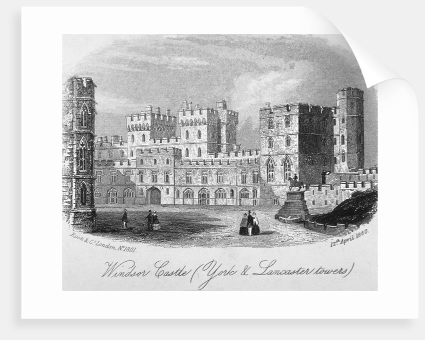 The york and lancaster towers at windsor castle berkshire by anonymous