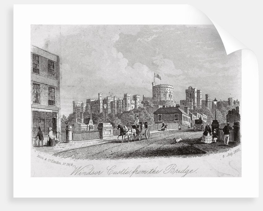 Windsor Castle, Berkshire, from the bridge by Anonymous