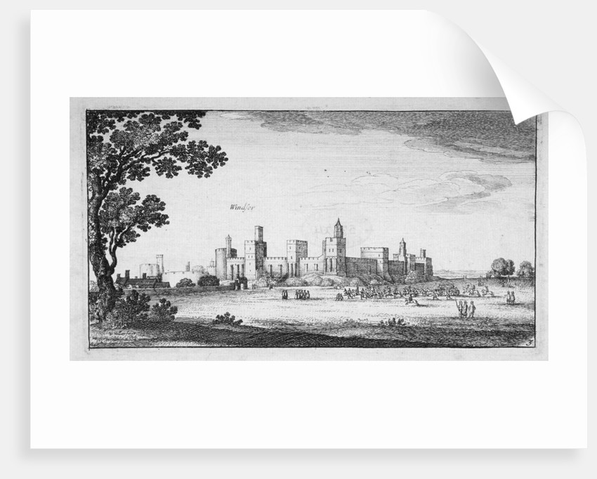View of Windsor Castle, Berkshire by Wenceslaus Hollar