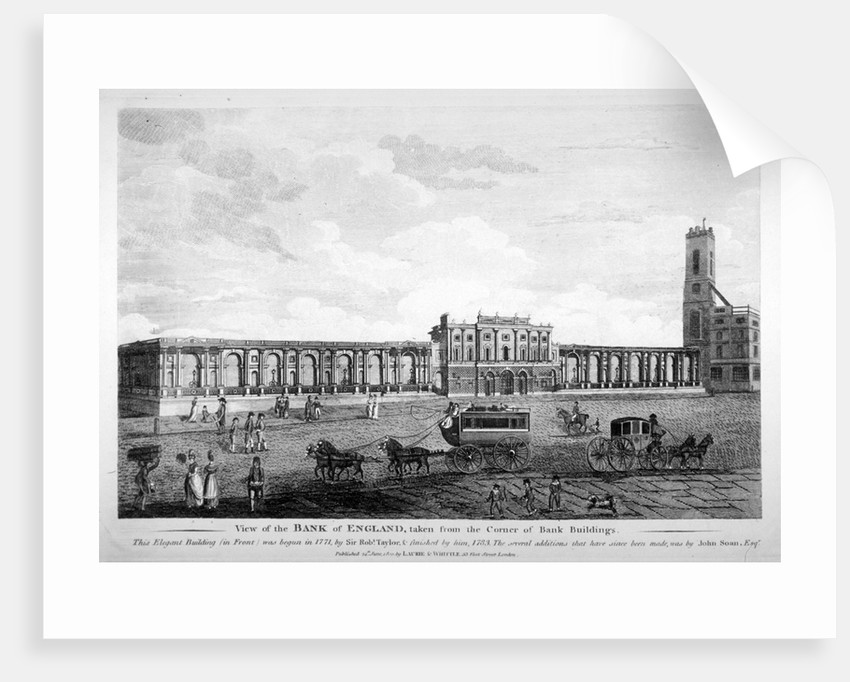 View of the Bank of England,  City of London by Anonymous