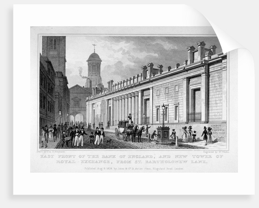 The Bank of England and new tower of the Royal Exchange, City of London by