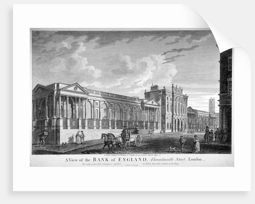 The Bank of England, City of London by Anonymous