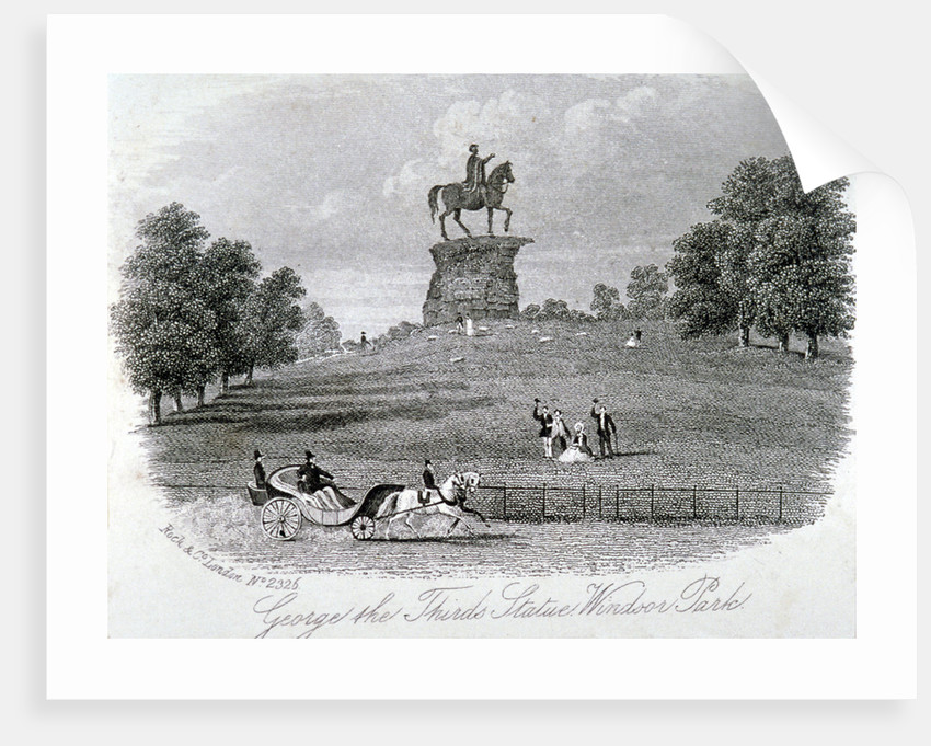 Equestrian statue of King George III, Snow Hill, Windsor Great Park, Berkshire by