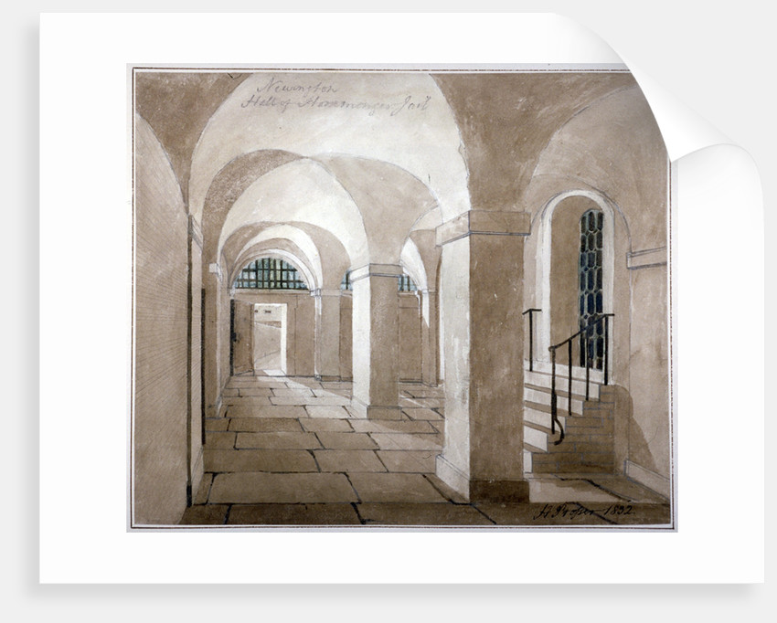 Interior view of a hall in Horsemonger Lane Prison, Union Road, Southwark, London by G Yates