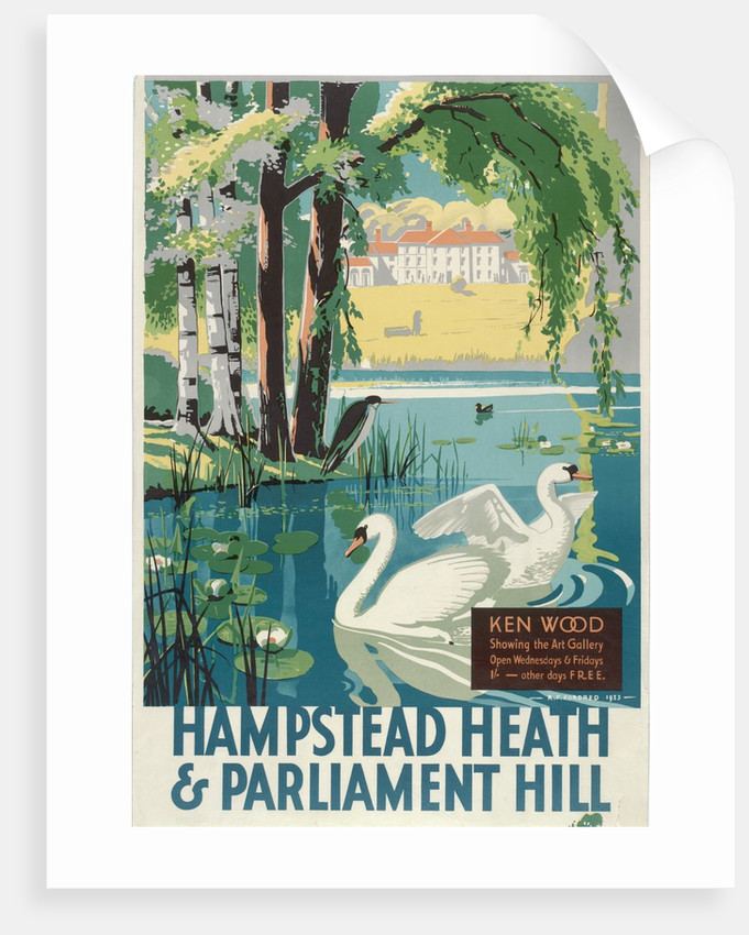 Hampstead heath and parliament hill london county council Lcc canvas