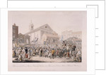 Election in Covent Garden, London by Rudolph Ackermann