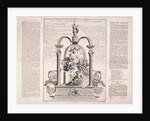 To the Glory of the Rt Honble Sr Robert Walpole by F Dumouchel
